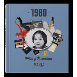 Libro 40 Cumpleaños con nombre y foto