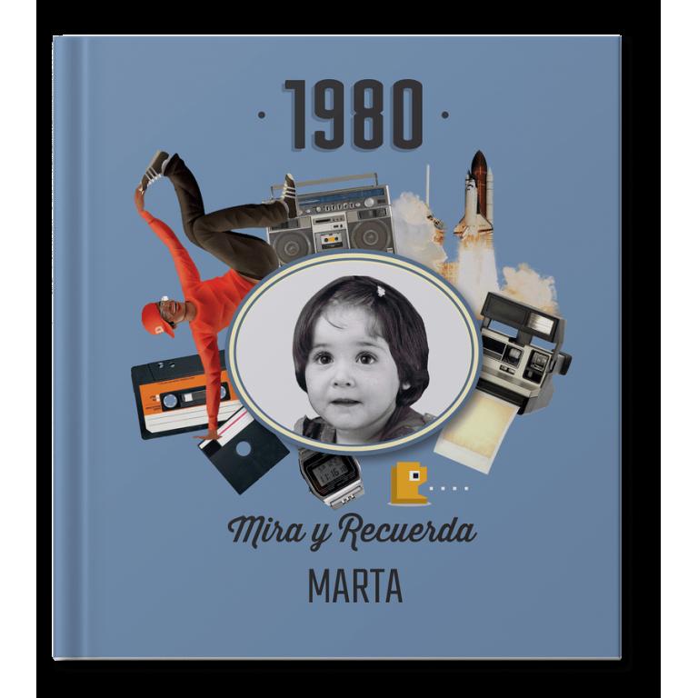 Libro 40 cumpleaños con foto y nombre