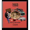 Libro 60 cumpleaños con foto y nombre